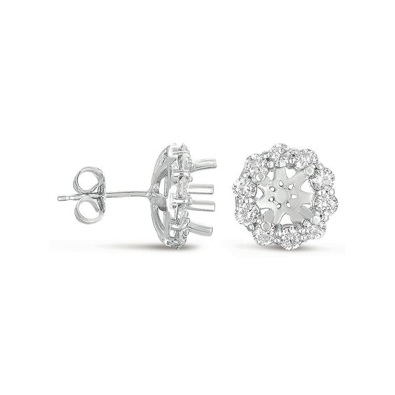 S. Kashi  & Sons Halo Diamond Earring for 1.5ct total