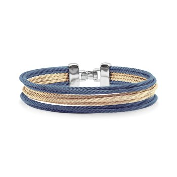 Carnation & Blueberry Cable Triple Stack Bracelet