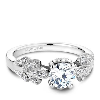 Noam Carver Floral Engagement Ring B063-01A