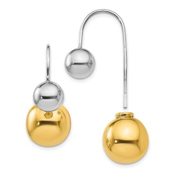 Leslie's Sterling Silver & Gold-tone Dangle Earrings