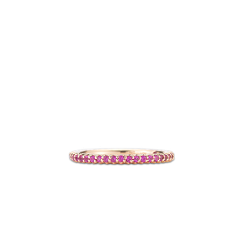 18KT GOLD ETERNITY BAND RING WITH SAPPHIRES