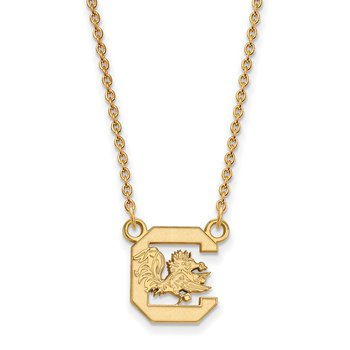 Gold-Plated Sterling Silver University of South Carolina NCAA Necklace