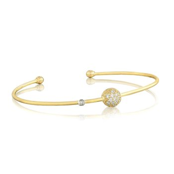 Single Pavé Wire Bangle