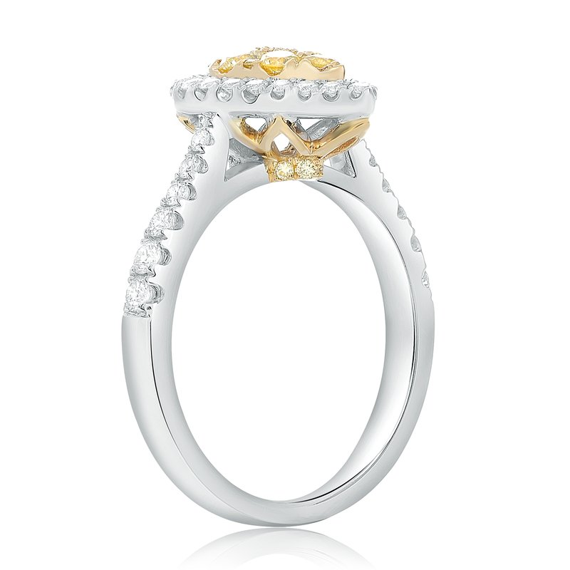 Roman & Jules Pave Shank Pear-shaped Diamond Ring