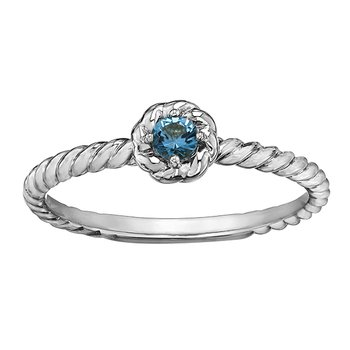 Blue Topaz Ladies Solitaire