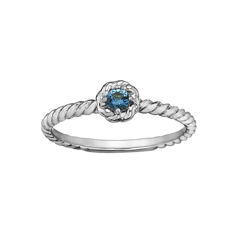 Lasting Treasures™ Blue Topaz Ladies Solitaire