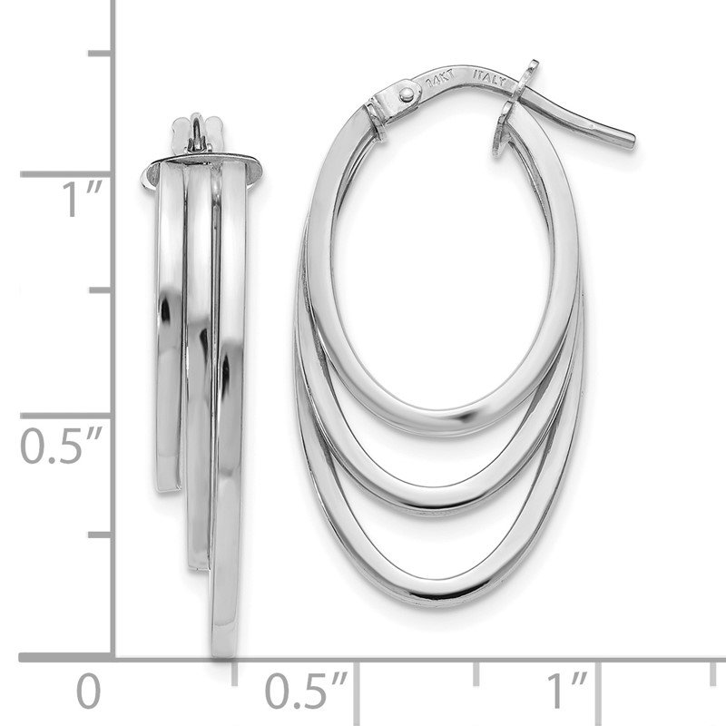 JC Sipe Essentials Leslie's 14K White Gold Polished Hoop Earrings