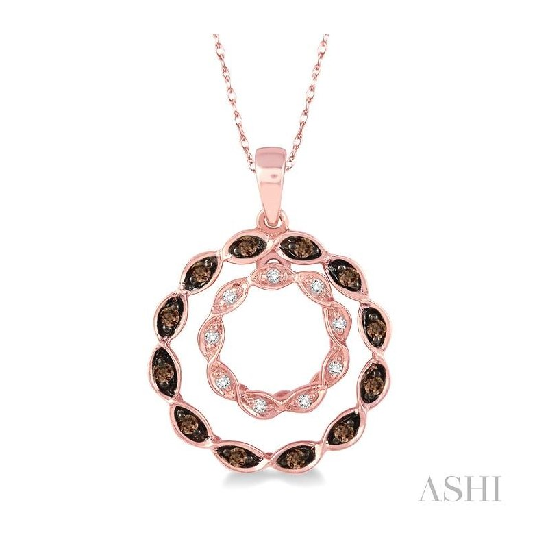 ASHI circle champagne diamond pendant