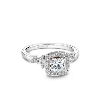Cushion Shaped Halo Engagement Ring