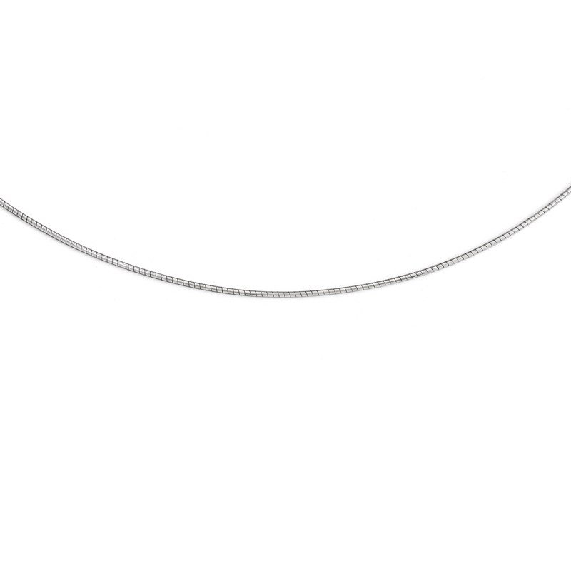 Leslie's Leslie's 14K White Gold 1MM Round Detachable clasp Omega Necklace