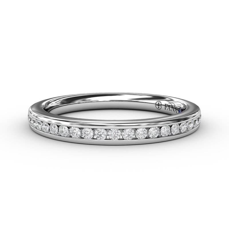 Fana 1/4ct Bead and Channel Set Anniversary Band