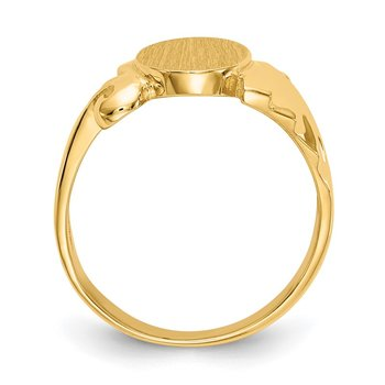 14k 8.5x10.0mm Open Back Signet Ring