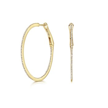 Diamond Hoops 34mm