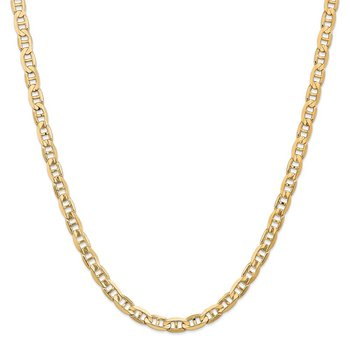 Leslie's 14k 6.25mm Concave Anchor Chain