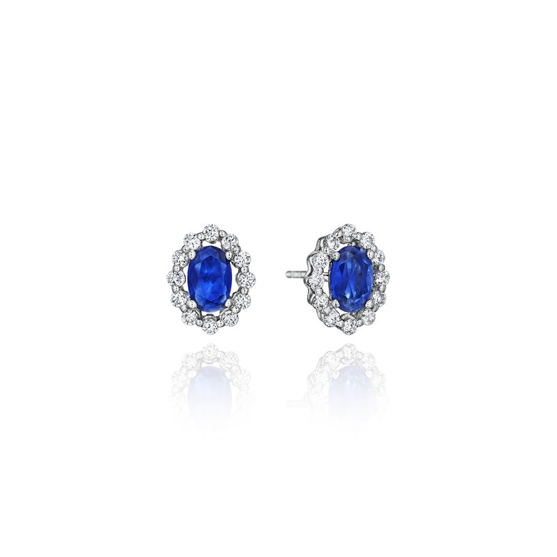 Fana Minimalist Magic Sapphire and Diamond Studs