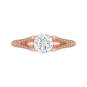 18K Pink Gold Carizza  Wedding Band