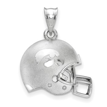 Sterling Silver University of Iowa NCAA Pendant
