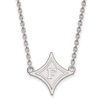 Sterling Silver Furman University NCAA Necklace