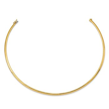 14k 4mm Lightweight Domed Omega Necklace