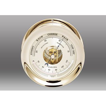"4 1/2"" Ship's Bell Barometer in Nickel"