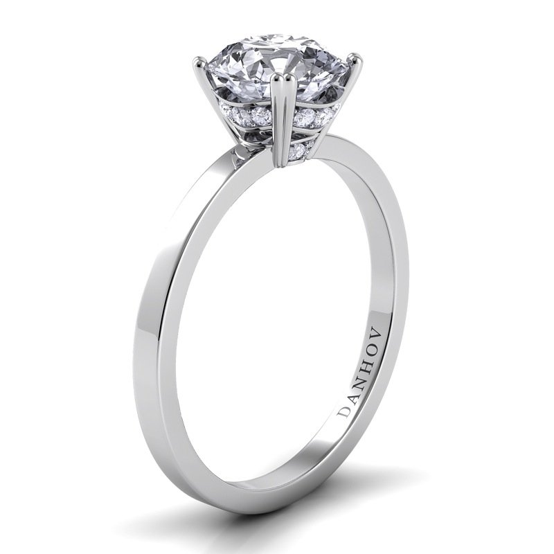 Danhov Classico Single Shank Engagement Ring