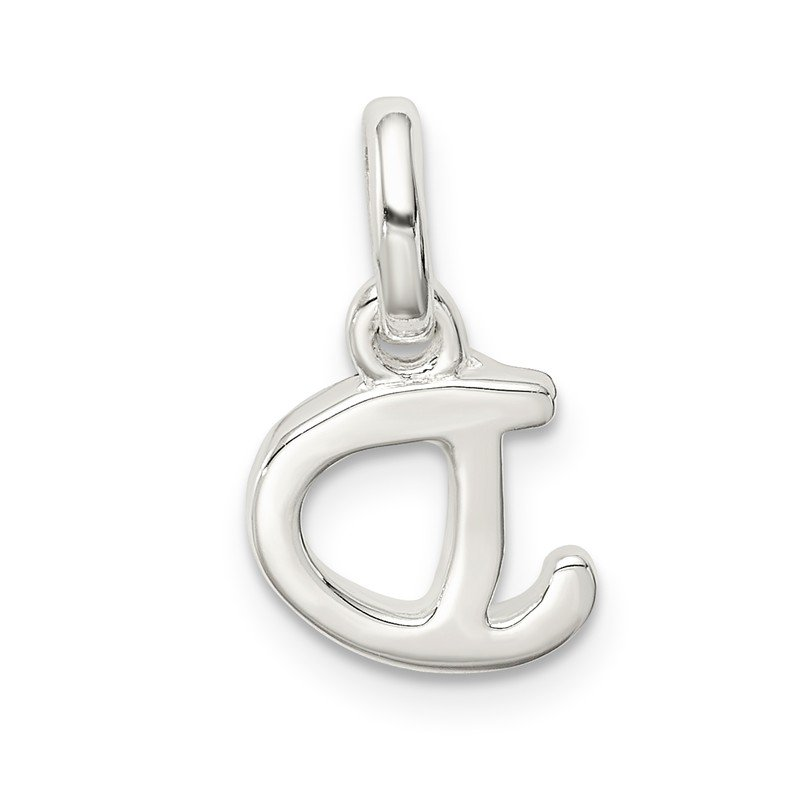 Quality Gold Sterling Silver Letter D with Enamel Pendant