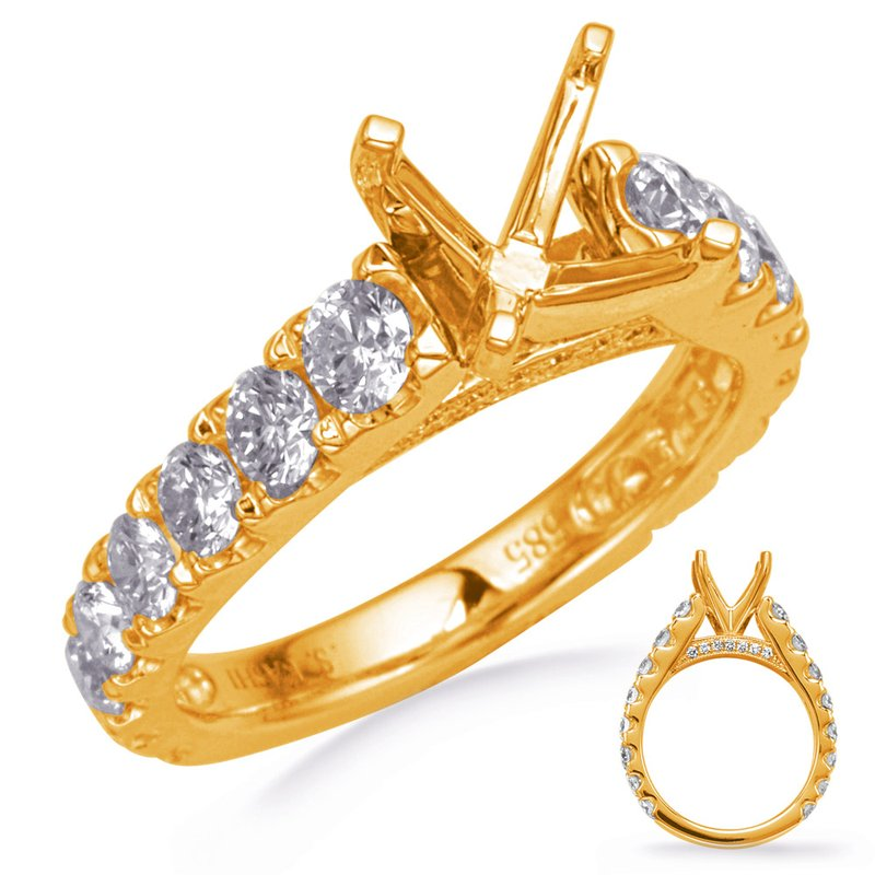 S. Kashi & Sons Bridal Yellow Gold Diamond Engagement Ring