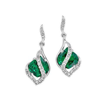 Emerald Earrings-CE4147WEM