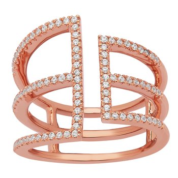14KP 1/3CTW RIGHT HAND FASHION RING