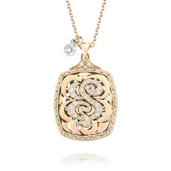 Bold Monogram Diamond Initial Pendant in Rose Gold | SN221_P