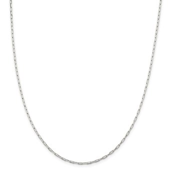 Sterling Silver 2mm Elongated Open Link Chain