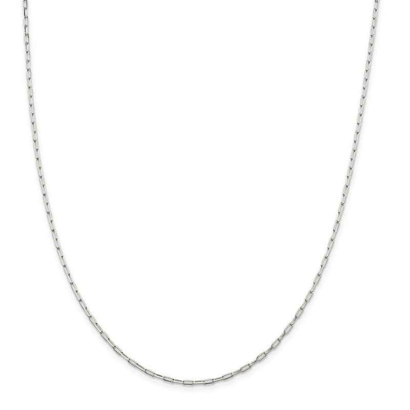 Quality Gold Sterling Silver 2mm Elongated Open Link Chain