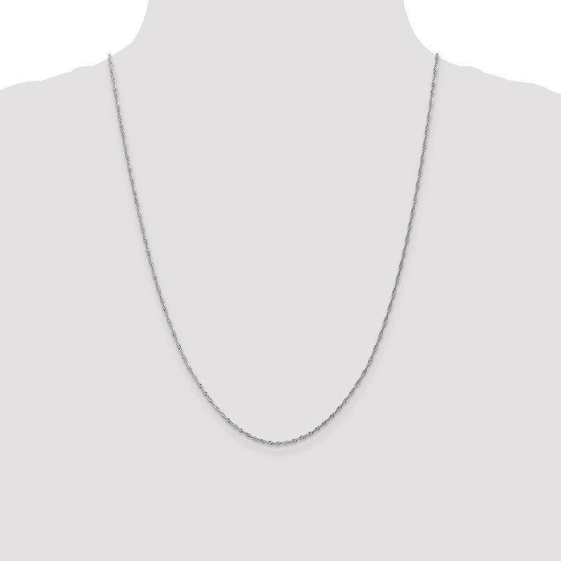 Leslie's Leslie's 10K White Gold 1.3 mm Sparkle Singapore Chain