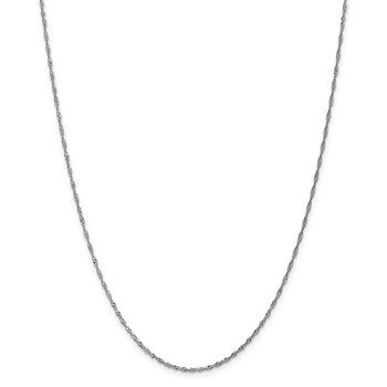 Leslie's 10K White Gold 1.3mm Singapore Chain