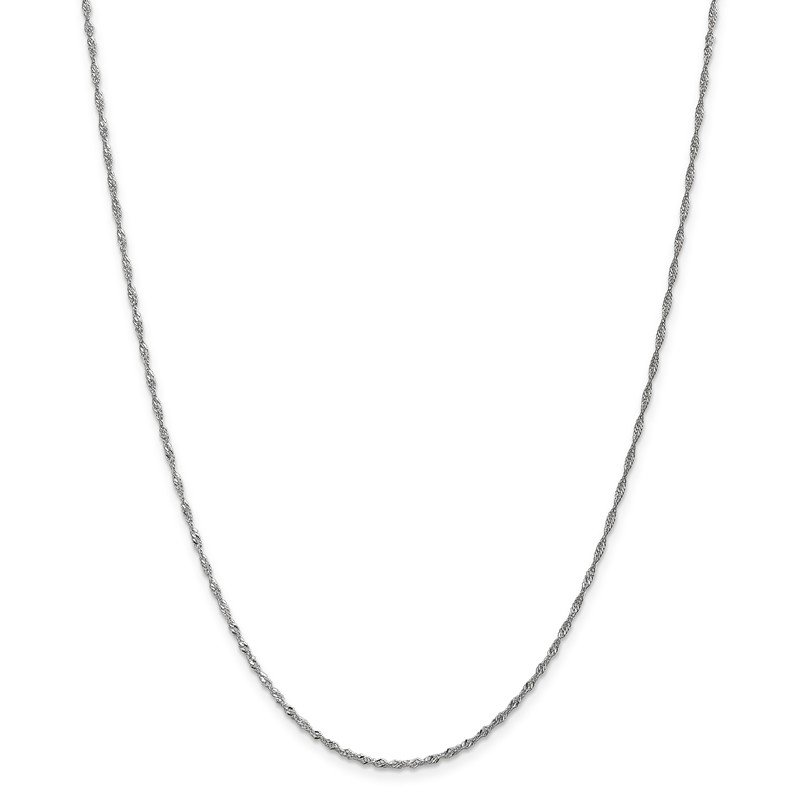 Leslie's Leslie's 10K White Gold 1.3mm Singapore Chain