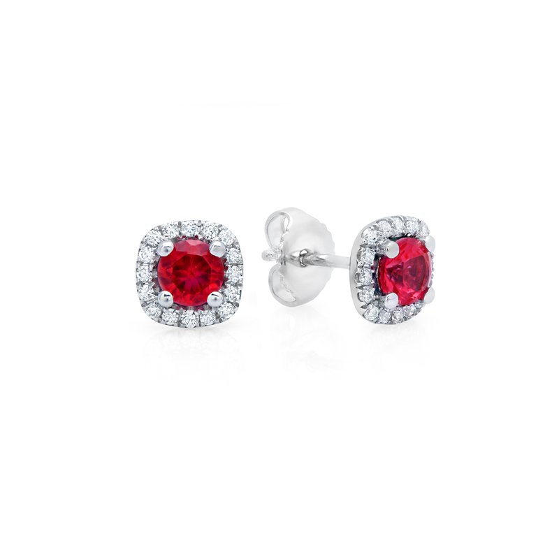 Fana Something Special Ruby and Diamond Stud Earrings