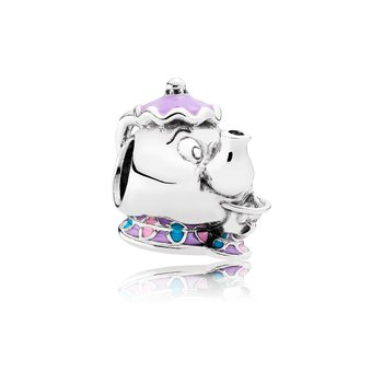 Disney, Mrs. Potts & Chip Charm, Mixed Enamel