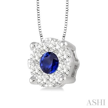 LOVEBRIGHT GEMSTONE & DIAMOND PENDANT