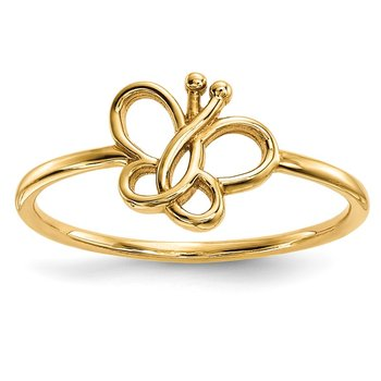 14k Polished Butterfly Ring
