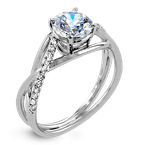 Zeghani ZR1378 ENGAGEMENT RING