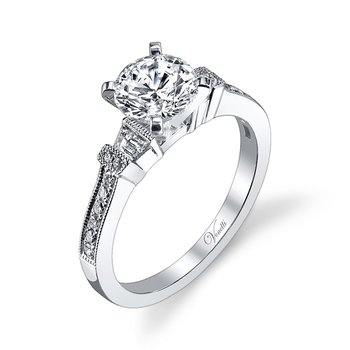 14K W RING 16RD 0.12CT 2TAP 0.13CT