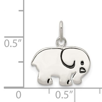 Sterling Silver Enameled Elephant Charm