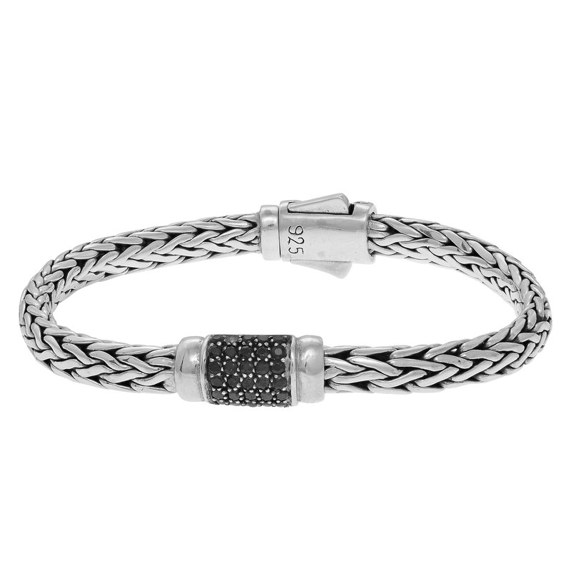 Royal Chain Sterling Silver Woven Bracelet