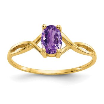 14k Amethyst Birthstone Ring