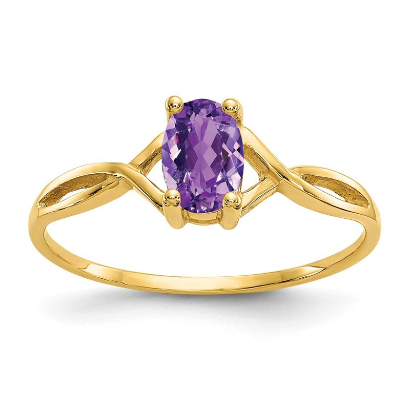 Quality Gold 14k Amethyst Birthstone Ring