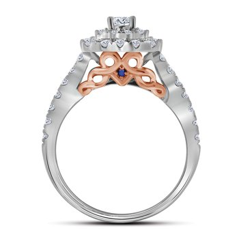 1CTW 14KT 1/5CT-CRD BRIDAL SET