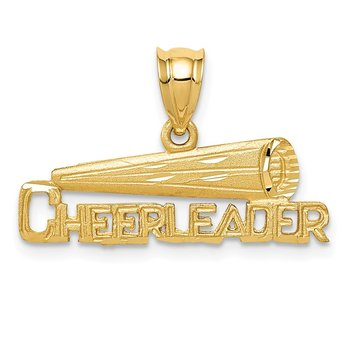 14K CHEERLEADER Pendant