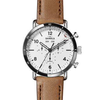 Canfield Sport 45mm, Bourbon Leather Strap