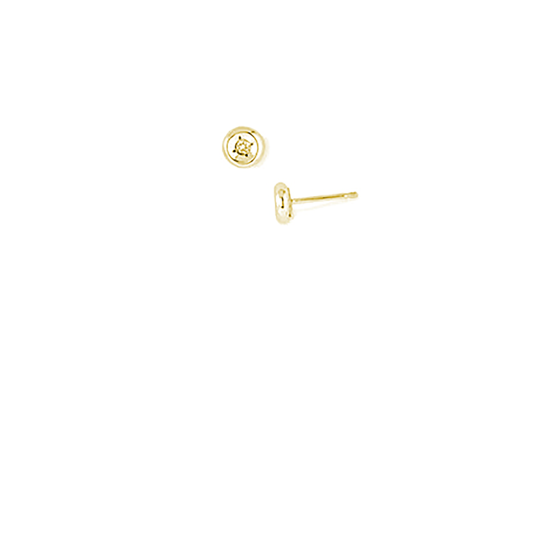 Roberto Coin  #26576 Of 18Kt Gold Diamond Earrings