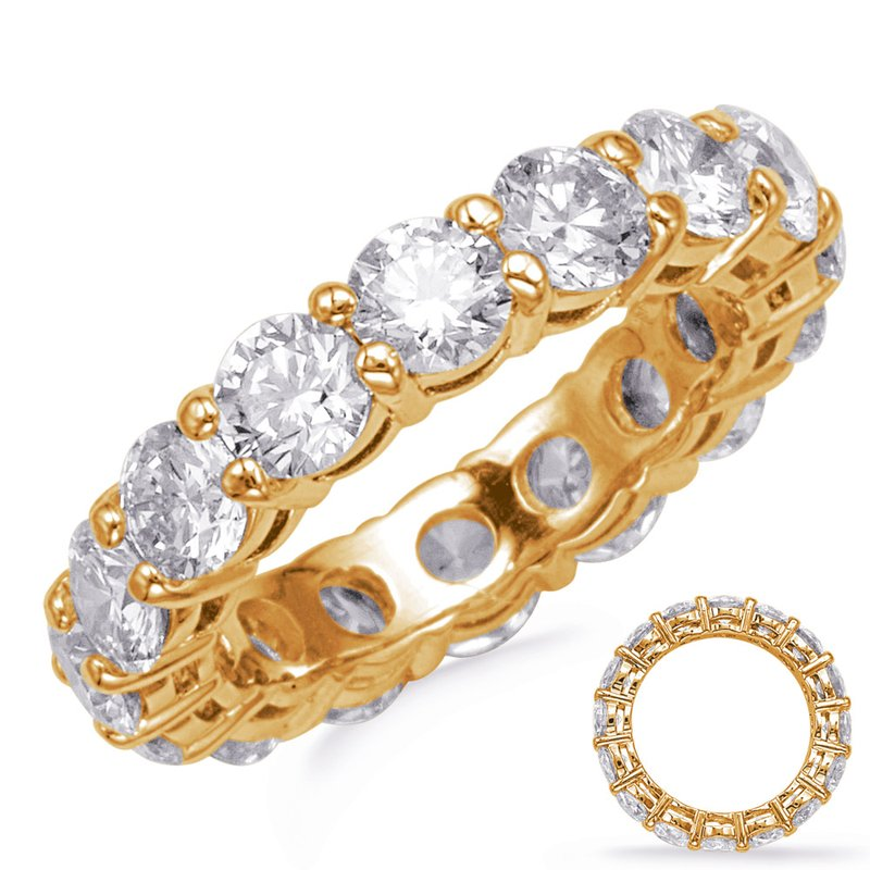 S. Kashi & Sons Bridal Yellow Gold Shared Prong Eternity Band